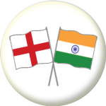 England and India Friendship Flag 25mm Pin Button Badge